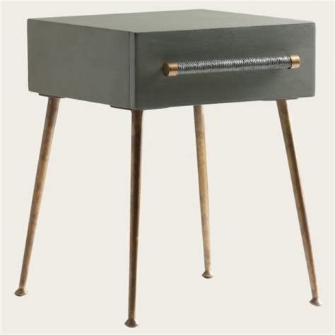Brass Bedside Table Ls by Chelsea Textiles