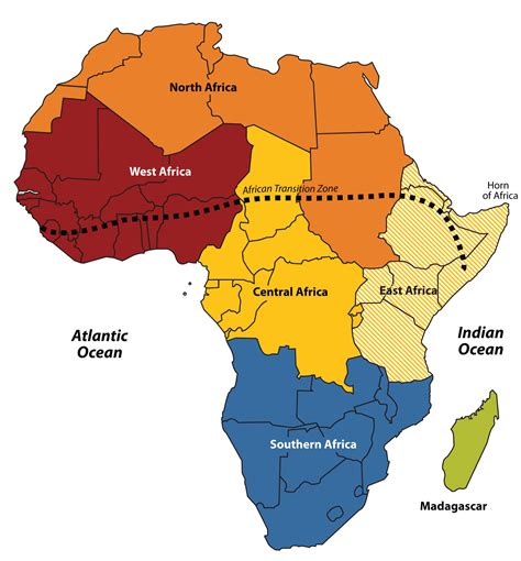 sections of africa subsaharan africa