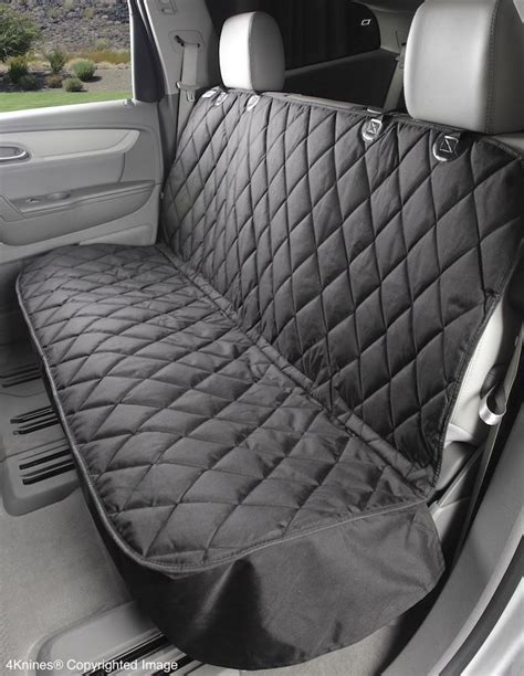 back seat bench cover 4knines fitted rear bench dog seat cover for cars 4knines