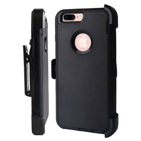 iphone 8 plus defender cover black w belt clip fits otterbox screen ebay