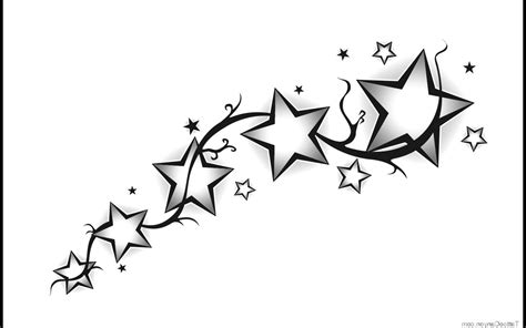 tattoo star designs with writing in it shooting designs tribal shooting drawing