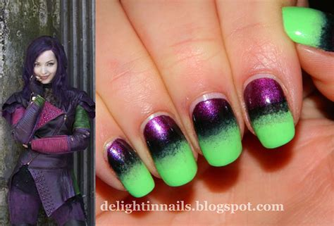 Colors That Look Good With Green by Your Favorite Quot Descendants Quot Are Perfect Nail Art Inspiration
