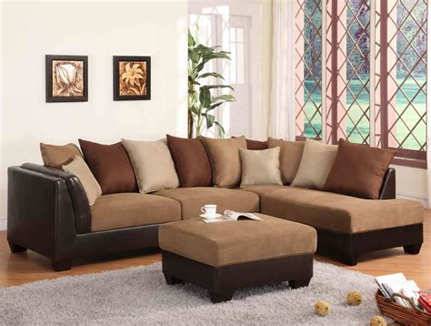 light brown sectional sofa sectional sofa in light brown terylene fabric 10956