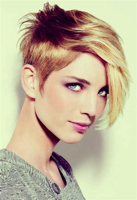 stylish short hairstyles  women  thick hair