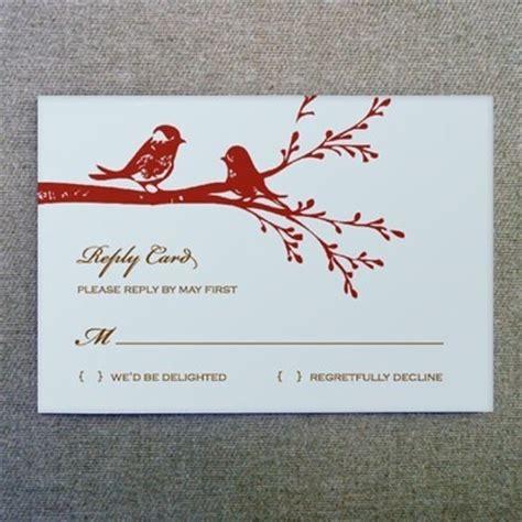 rsvp cards templates free rsvp template lovebirds print