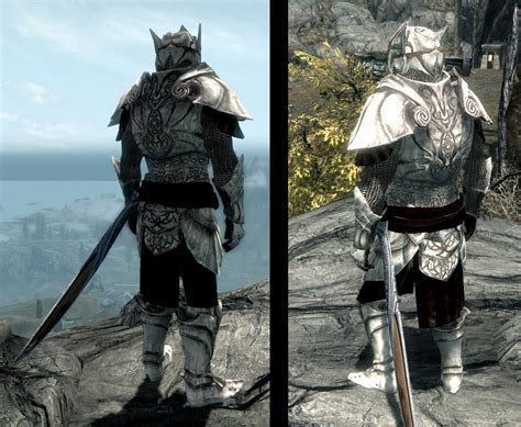 skyrim armor elven dragonbone light armor set at skyrim nexus mods
