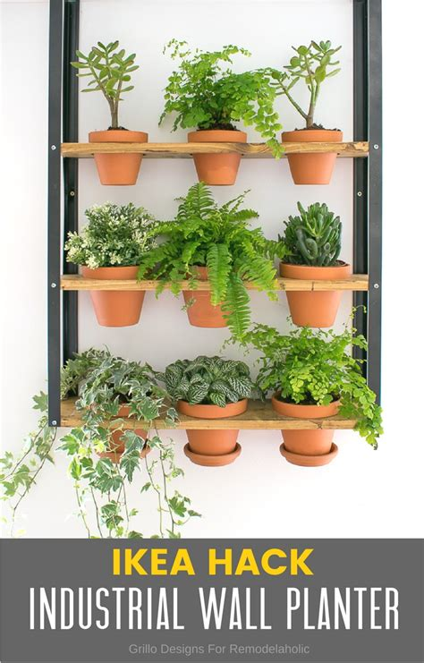 ikea planter hack hyllis ikea hack industrial wall planter grillo designs