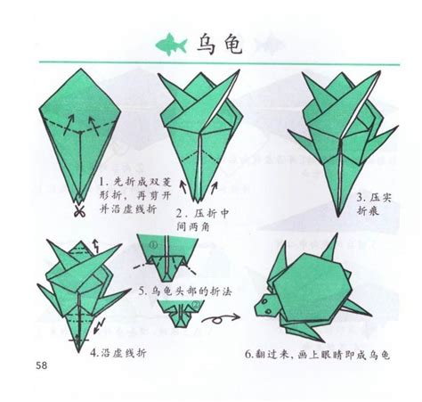 How To Make An Origami Turtle Step By Step - 小乌龟的手工折纸方法 益智堂