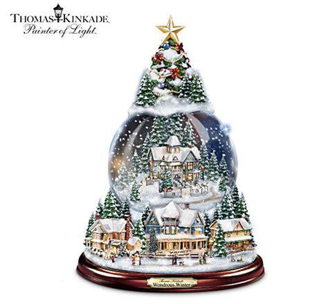 thomas kinkade wondrous winter musical christmas snowglobe