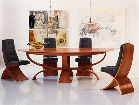 brighton wood oval dining table
