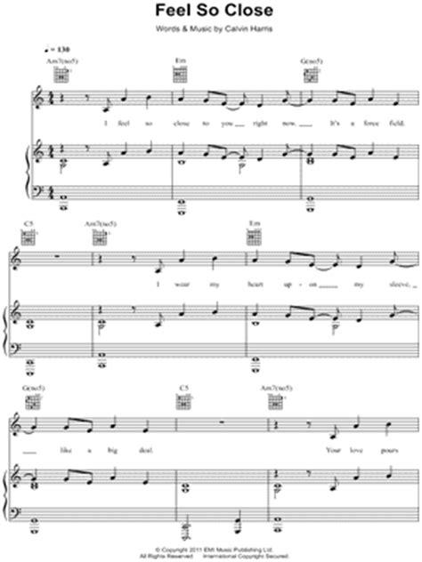 download mp3 calvin harris feel so close original calvin harris quot feel so close quot sheet music download print