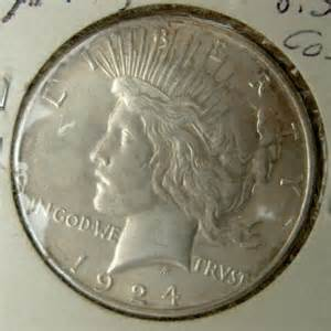1924 peace liberty silver dollar coin for sale antiques