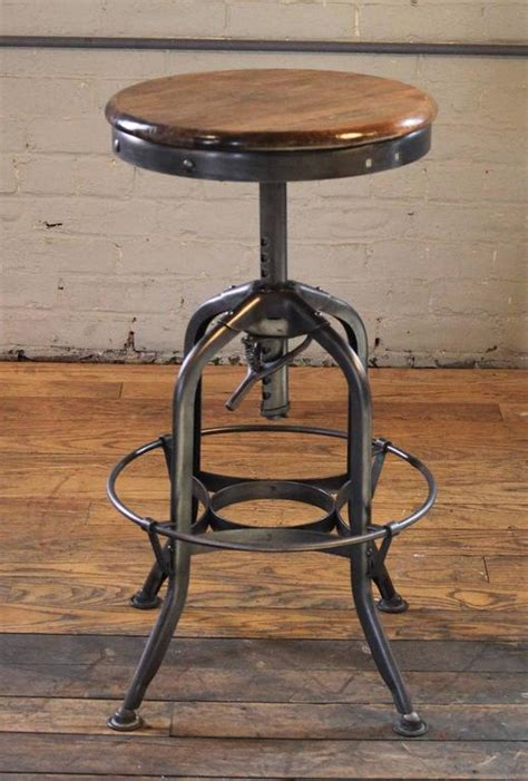 vintage industrial chairs and stools vintage industrial wood and steel counter island