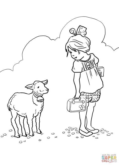 small sheep coloring page coloriage marie avait un petit agneau coloriages 224