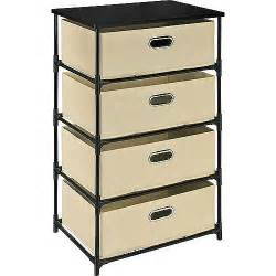 Canvas Drawers Storage by Altra 4 Drawer Canvas And Metal Storage Colors