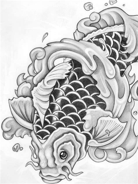 koi fish tattoo stencils designs koi fish tattoos