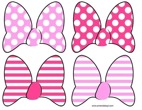 minnie mouse cut out template printable minnie mouse bow free pink mouse bow cut out