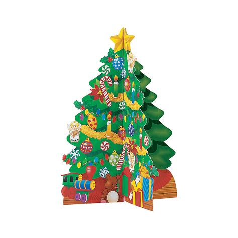 cardboard 3d christmas trees and stickers oriental trading