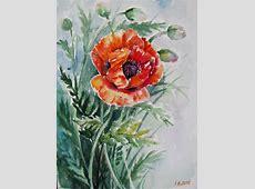 Mohnblume - Natur, Malerei, Aquarellmalerei, Blumen von ... Bilder Hochladen