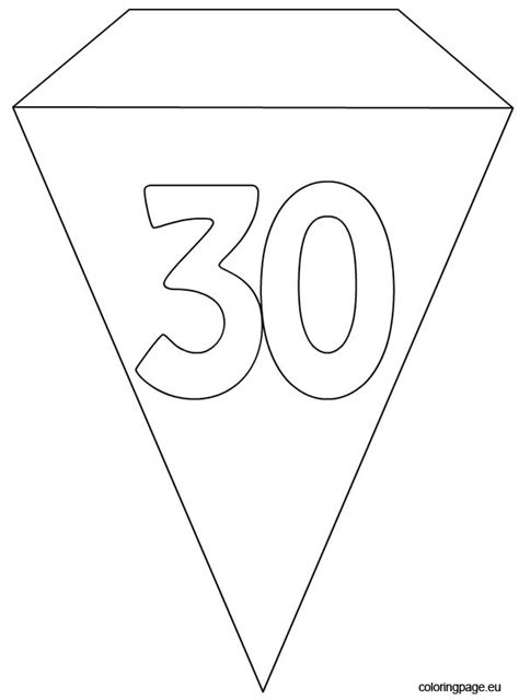 party flag banner template coloring page