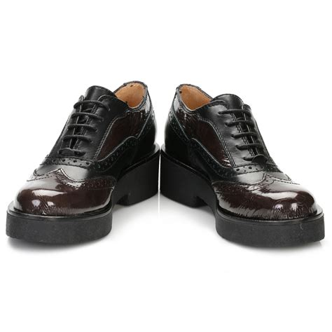 womens black leather oxford shoes tower womens black platform oxford brogues leather