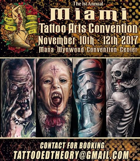 tattoo convention miami 2017 miami tattoo arts convention featured guest artist javier