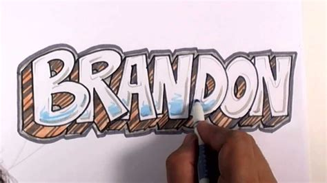 graffiti writing brandon  design    names