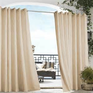 Gazebo Outdoor Curtains by Khaki Gazebo Solid Grommet Top Indoor Outdoor Curtain Panel