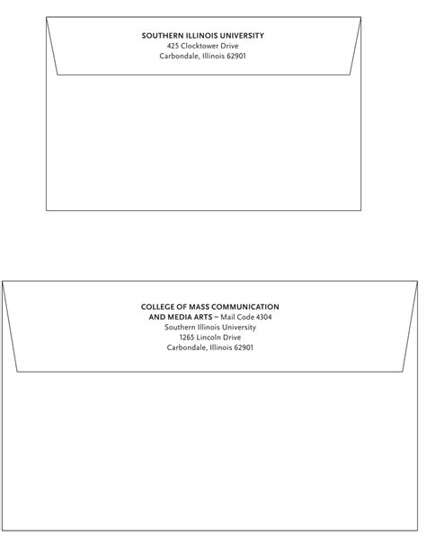 Douglas College Letterhead Invitation Envelopes Identity Guidelines Siu