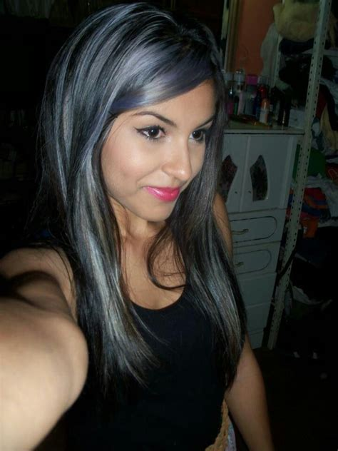 whight gray higlights hair styles 17 best images about hair on pinterest gray black