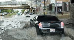 car new jersey yesterday polar air from canada causes downpours in us and unusually