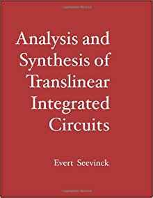 analysis and design of analog integrated circuits syllabus analysis and synthesis of translinear integrated circuits pdf 28 images the analysis and