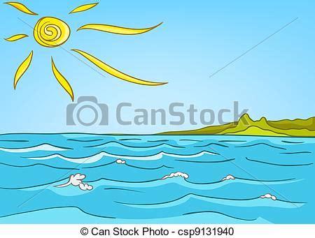 mare clipart vector clip de paisaje caricatura mar naturaleza