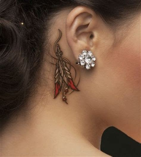 feather tattoo behind ear pinterest 55 ear tattoos designs and ideas for women dzine mag