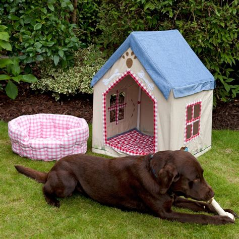 fabric dog houses large fabric portable dog house kennel with floor quilt by win green pet bed ebay