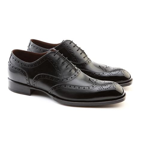 Koku Footwear Wingtip Oxfords Size 44 stanley brogue wingtip lace up oxford shoe black