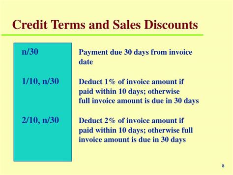 Credit Terms Discount Formula Ppt Chapter 7 Powerpoint Presentation Id 6421395