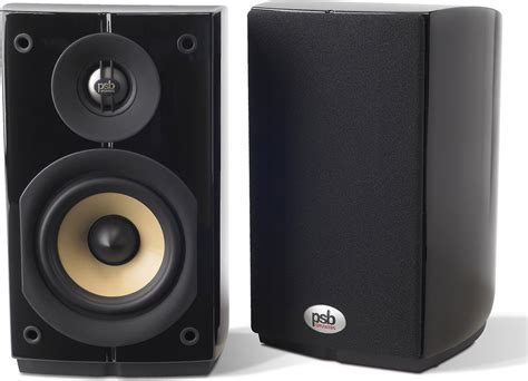 psb imagine mini gloss black compact bookshelf speakers