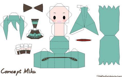 Vocaloid Papercraft - concept miku papercraft by tamuu ii on deviantart