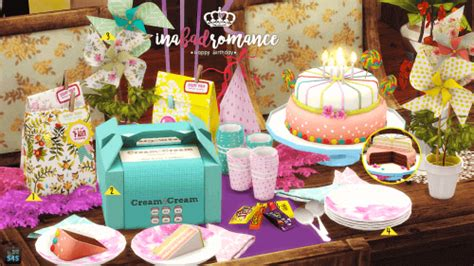 Spring4Sims   Happy birthday clutter set for The Sims 4