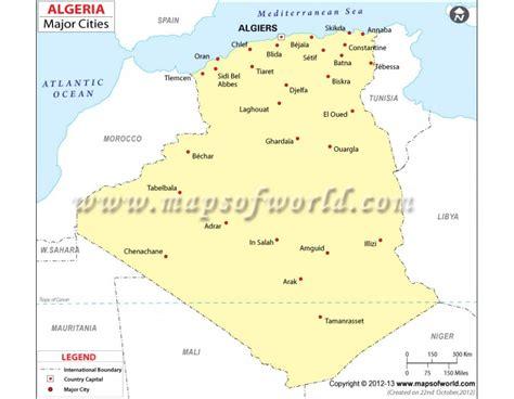 algeria map with cities buy algeria map with cities