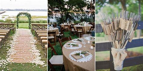 burlap wedding decor ideas burlap inspired country weddin 15 rustic lace and burlap wedding ideas to love