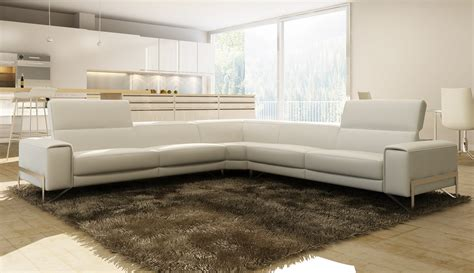 white italian leather sectional sofa divani casa cobana modern white italian leather sectional sofa