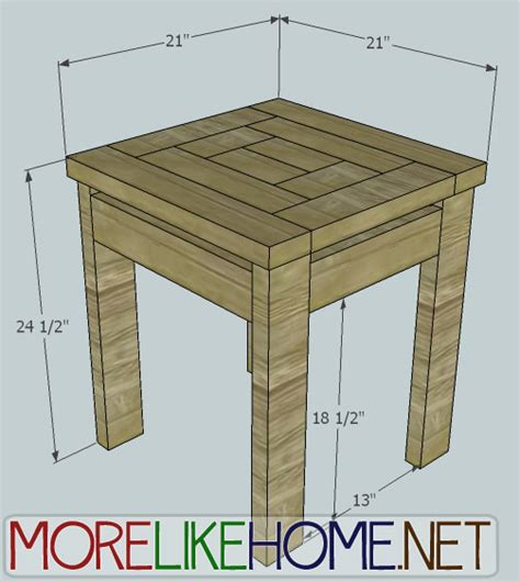 home day  build  craftsman style  table