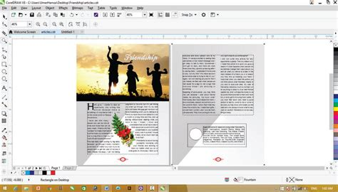 corel draw booklet layout corel draw x8 tutorials magazine page layout designing