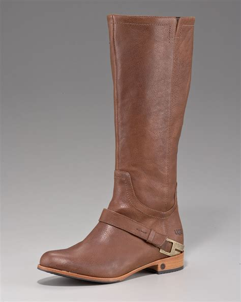 leather riding womens brown leather ugg riding boots