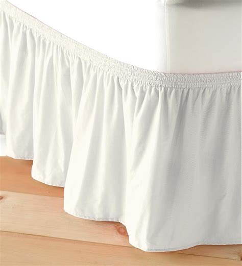 elastic bed skirts adjustable elastic bed skirt ebay