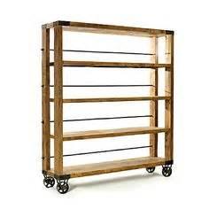 Bakers Rack With Wheels Deco Pipe Metal Wood Furniture On Pipe