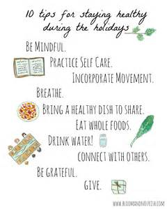 10 tips for staying healthy during the holidays bloom