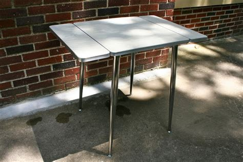 post war design formica and chrome drop leaf kitchen table